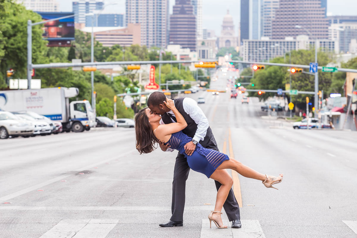 houston texas discovery green engagement portrait