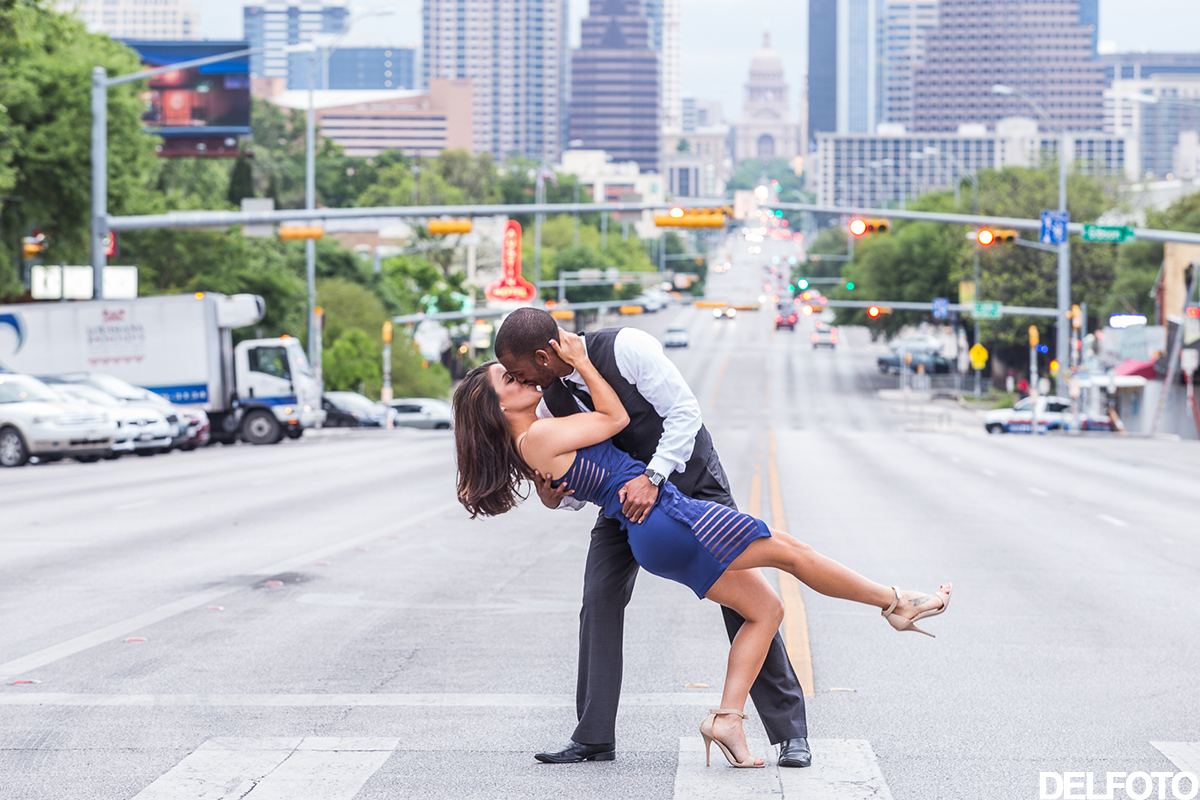 south congress austin texas engagement portrait