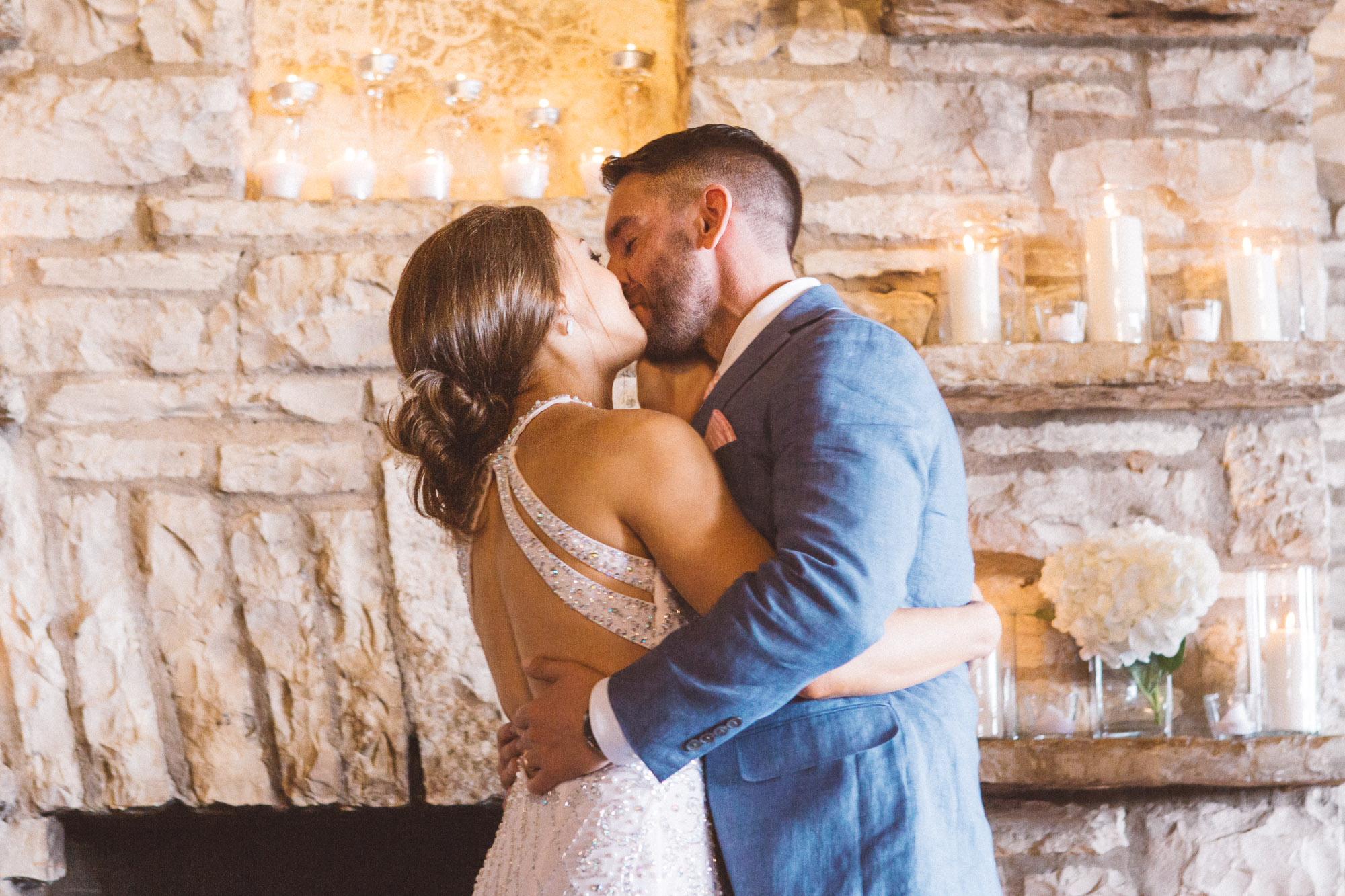 First Kiss Zilker Park Clubhouse Austin Texas Wedding