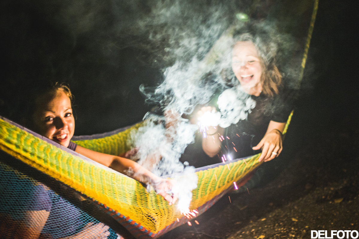 austin texas nightlife afterparty after party sparkler sparklers fireworks hammock girls