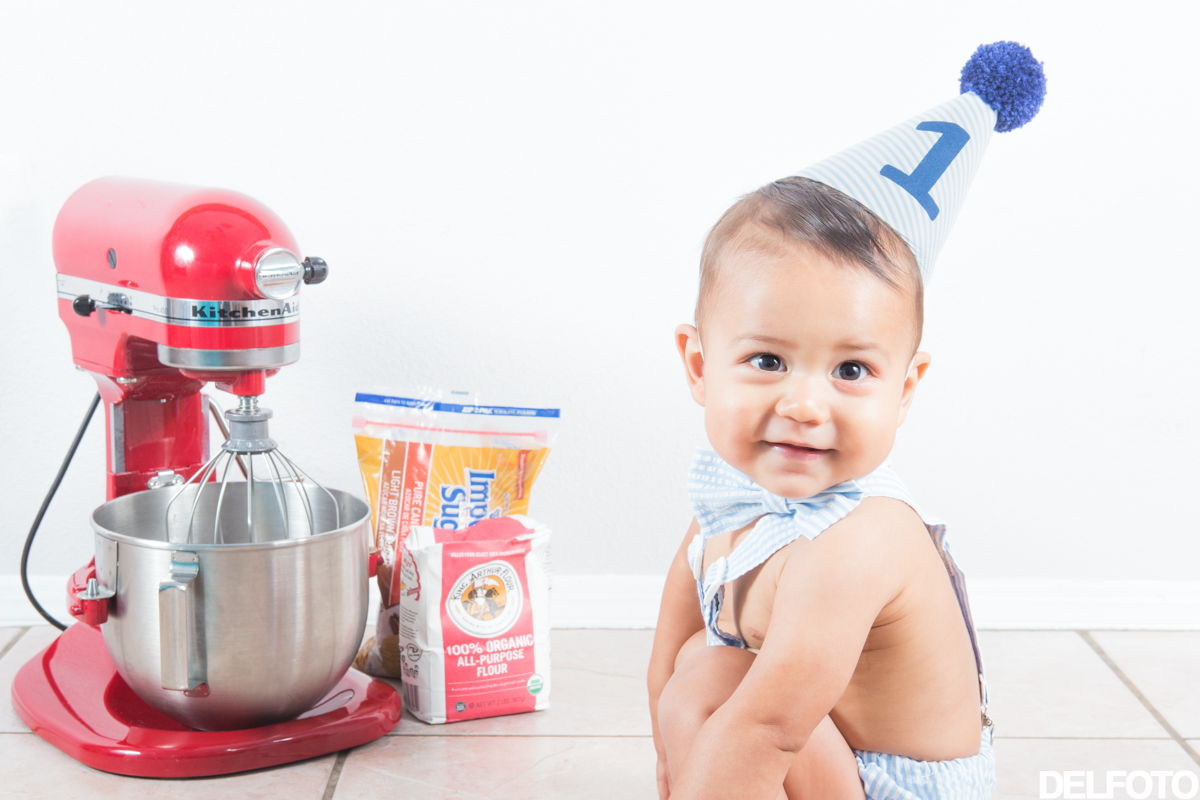 Austin Texas Portrait Photography Child Infant Baby Kitchenaid Mixer Cake