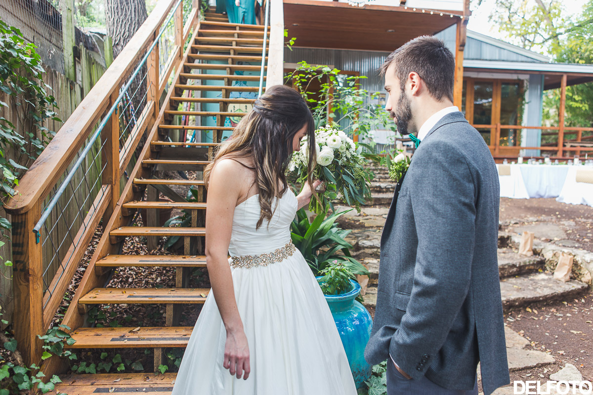 Austin Wedding Photographer Photography Sanctuary First Look Bride Groom