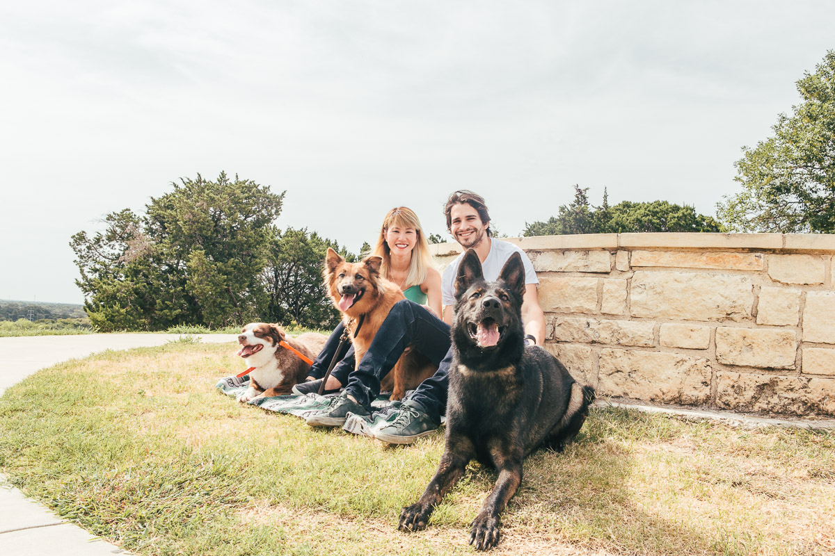 couple pet dog family lookout point cameron park waco texas