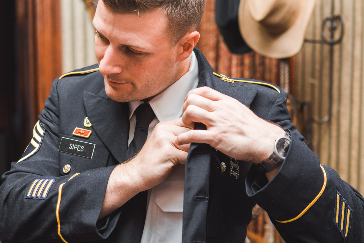 army formal uniform wedding