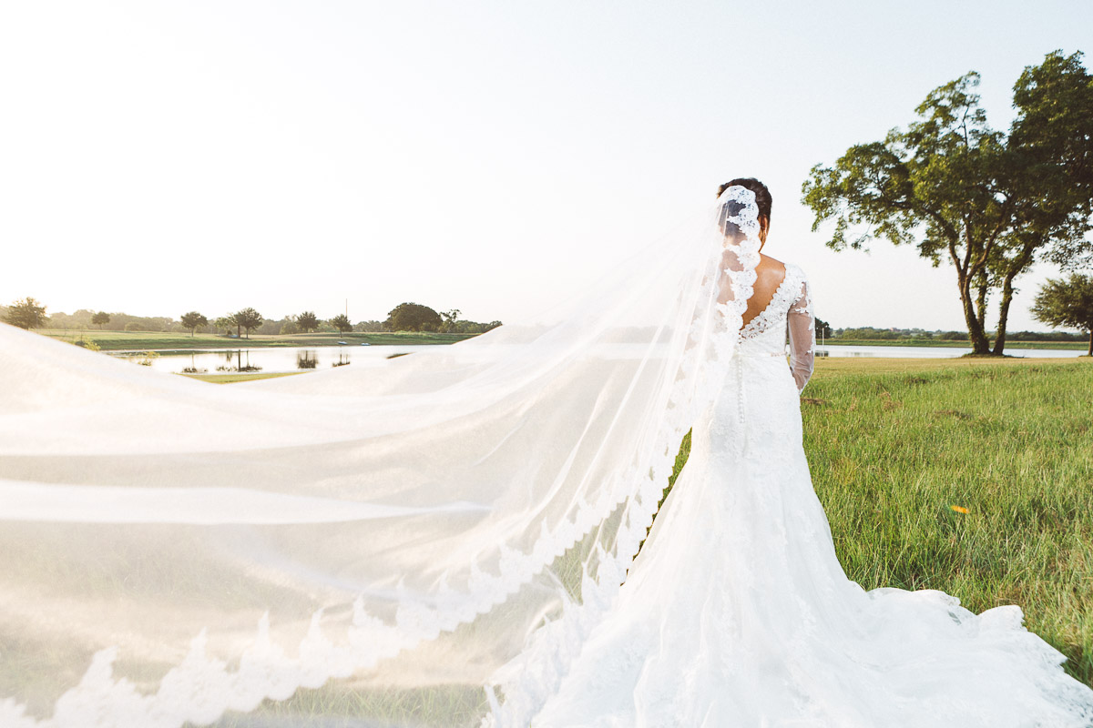 bridal wedding veil by lake eberly ranch texas