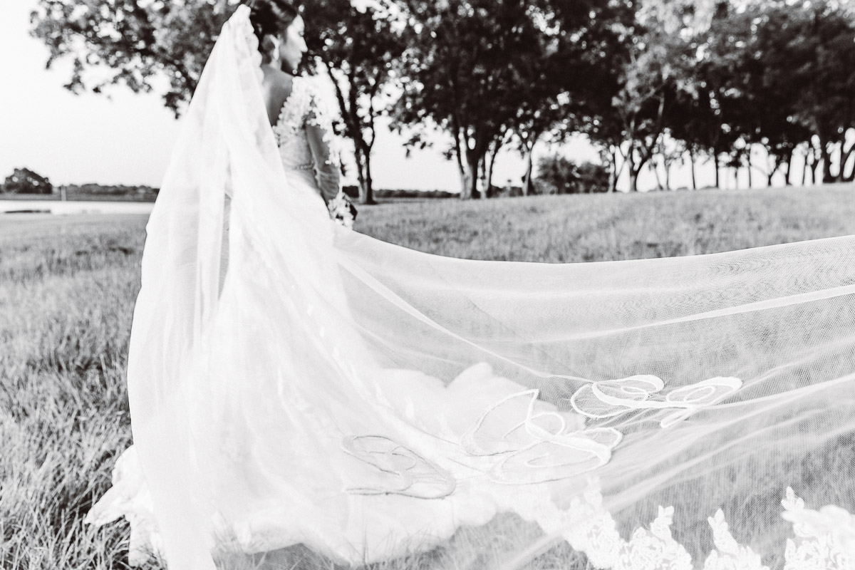 bridal wedding veil by lake eberly ranch texas black and white