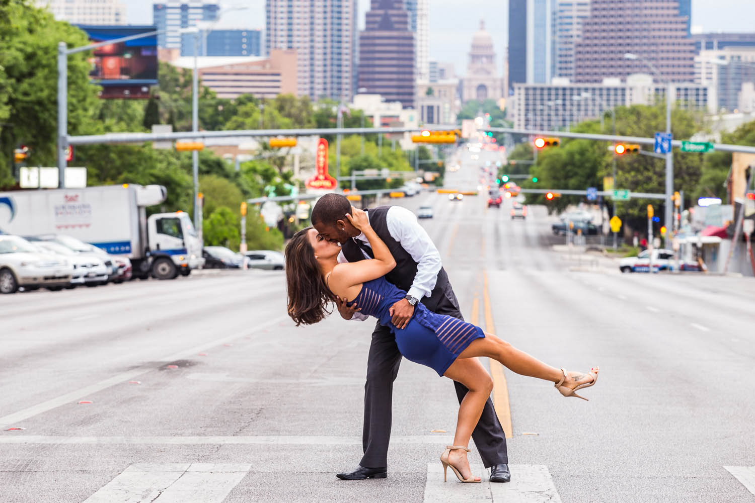lifestyle engagement portrait austin texas modern