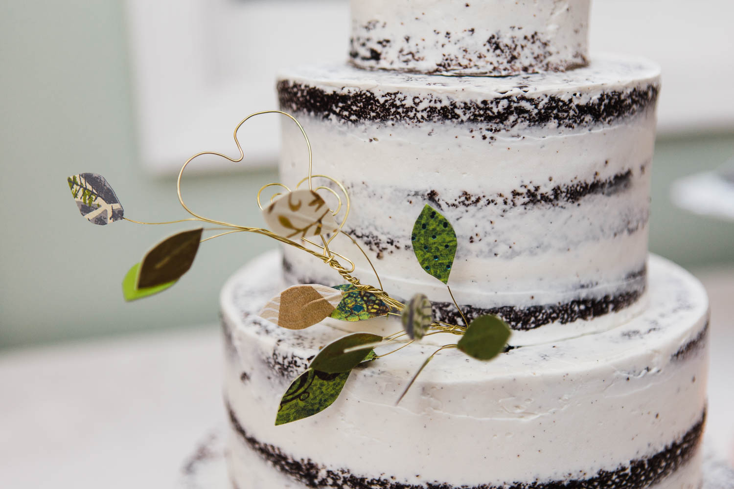 naked wedding cake details leafy austin texas photographer sanctuary